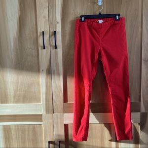 Bright Red H&M Jeggings Stretch Skinny Jeans Sz 12